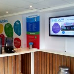 digital signage at Blue Cow Stratford