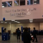 digital signage in retail at East End Foods