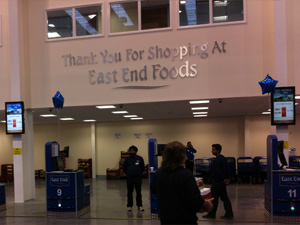 digital signage East End Foods