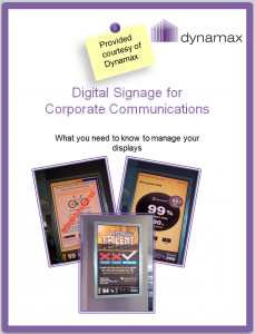 corporate communications using digital signage