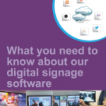 digital signage software brochure