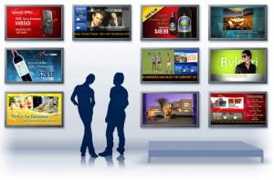 digital signage on multiple screens