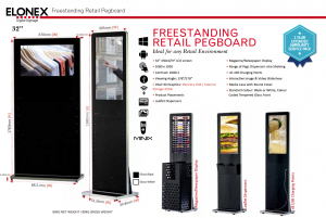 Freestanding Pegboard