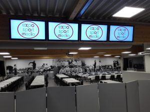 Export Sport Media digital display install in Belgium football club