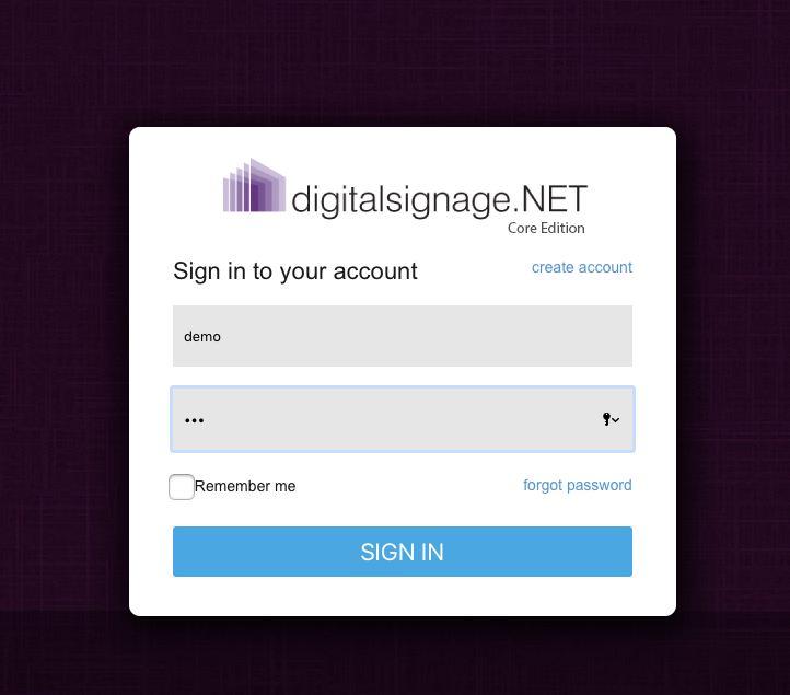 digitalsignage.net login