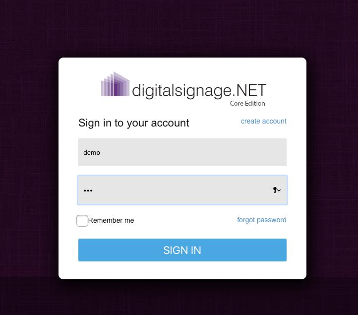 digitalsignage.net login