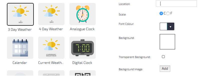 digitalsignage.net Widgets