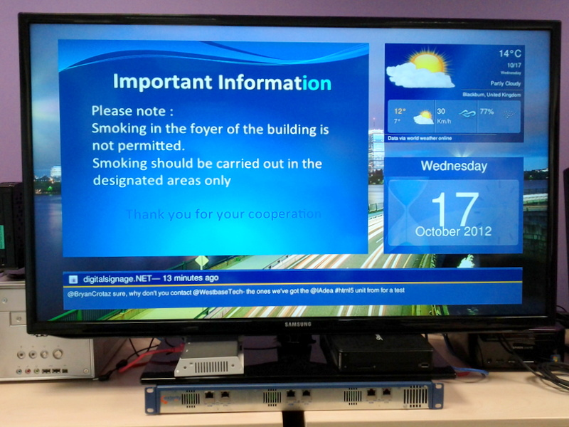 digital information display run by Dynamax