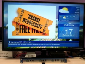 Live video in digital signage software