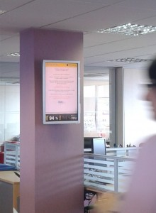 digital signage software for corporate communications
