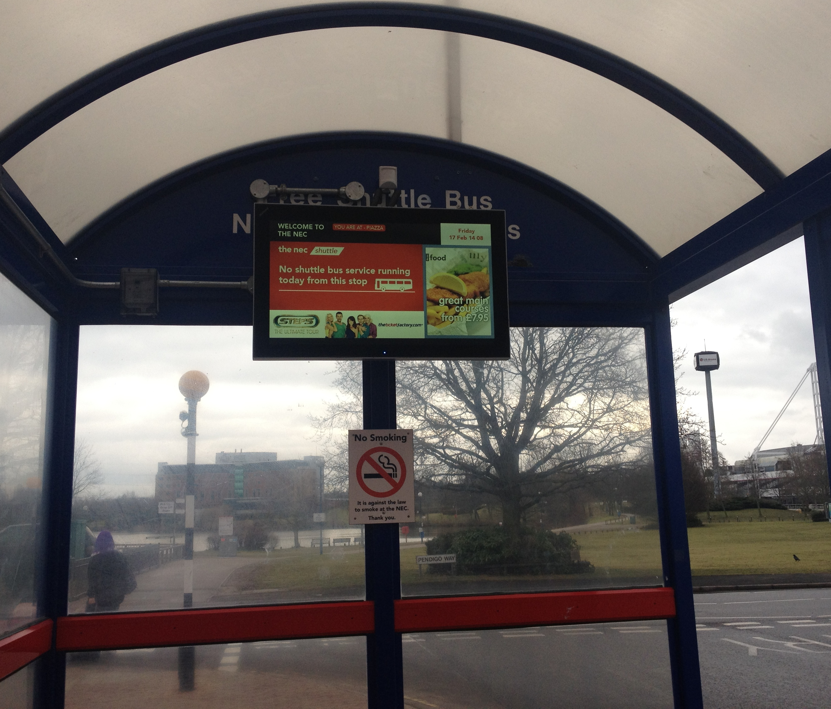 Exhibition Displays Uk : The nec s bus shelter displays powered by our software