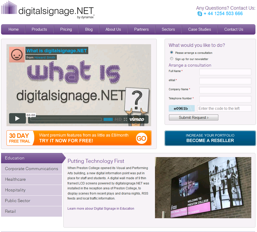 new website- digitalsignage.NET