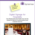 Digital signage for hotels and restaurants