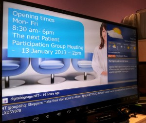 Health care digital signage