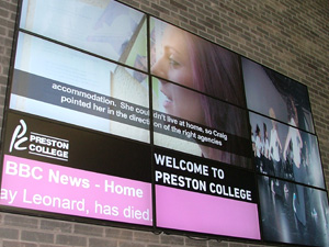 Preston College Video Wall