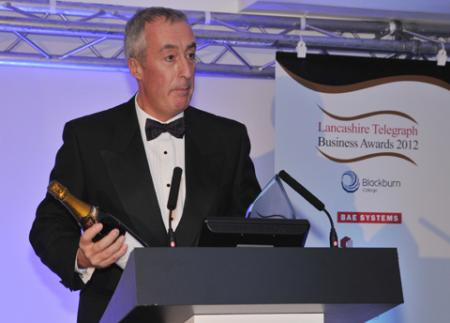 Howard Smith at the Lancashire Telegraph Business Awards ceremony