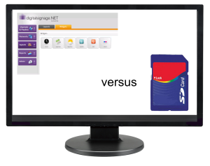 digital signage software vs. USB sticks