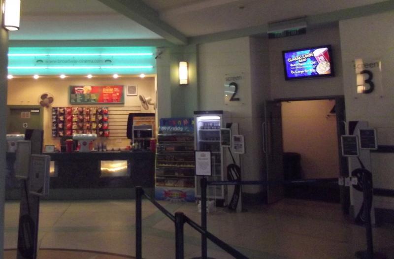 Digital media signage in cinemas