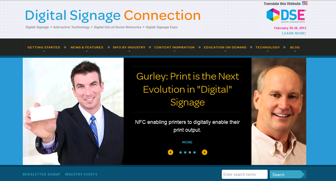 Digital Media Signage Publication