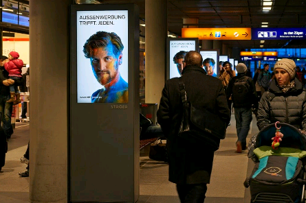Digital signage in public spaces
