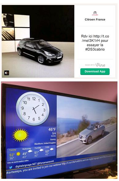 Digital signage display and Vine video