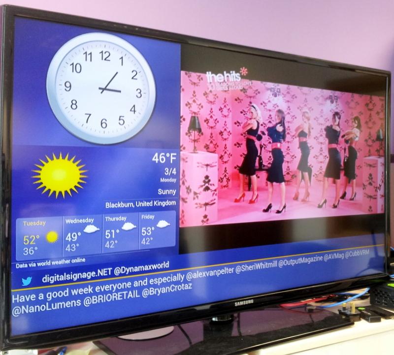 screen shot of digital signage software