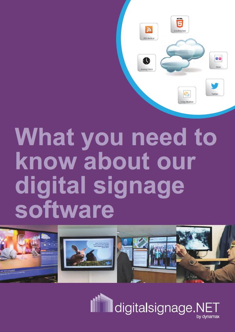 digital signage software by Dynamax