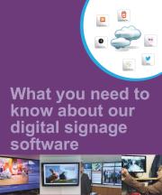 digital signage software brochure