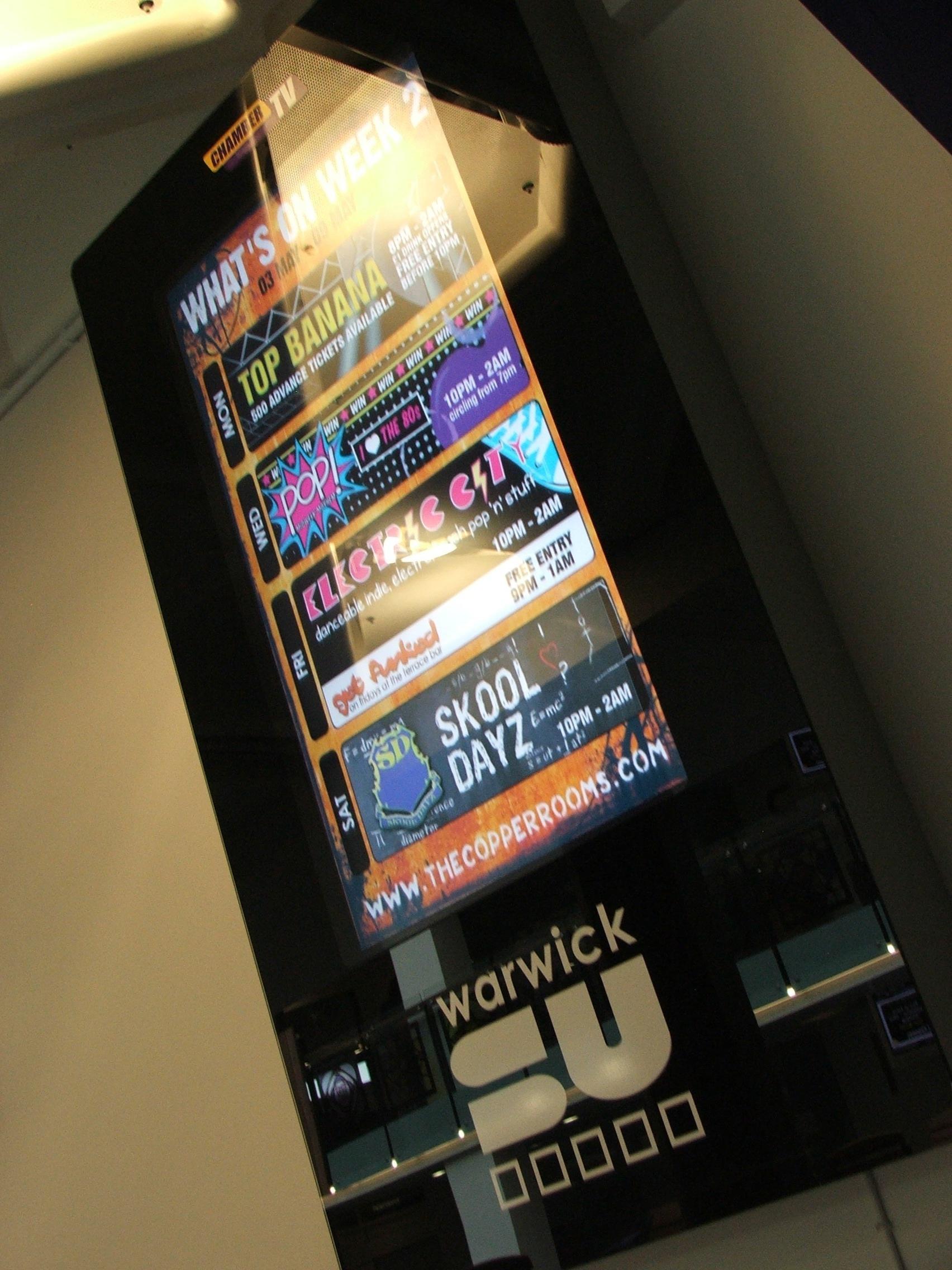 Student's union digital signage