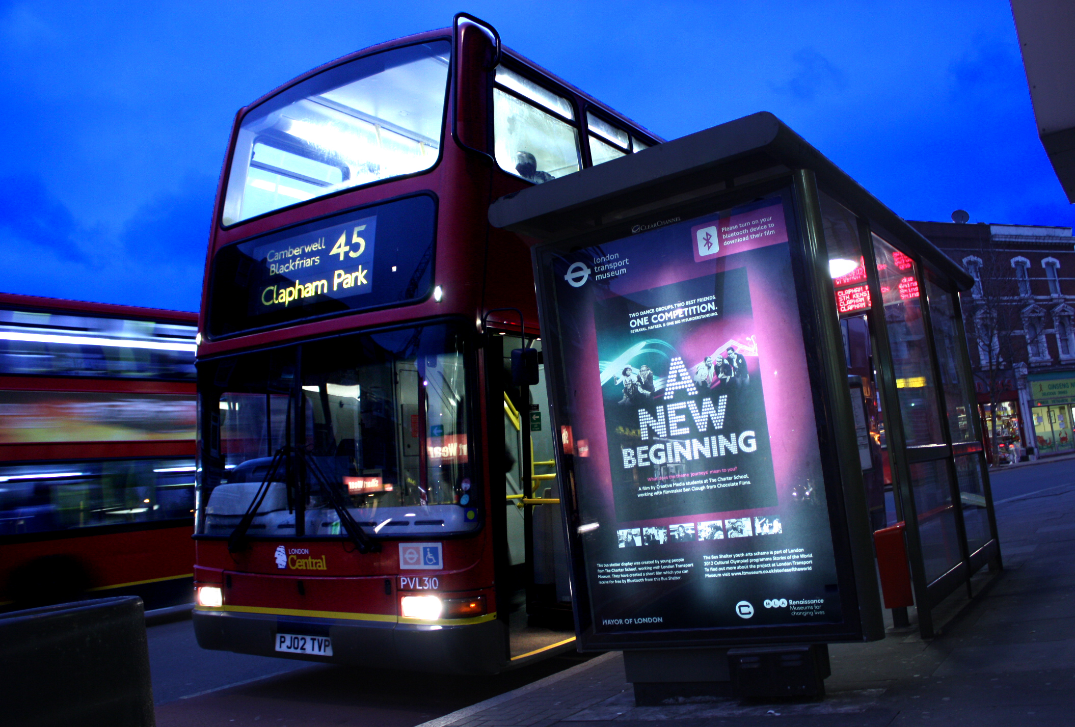 Digital signage on Bus shelters