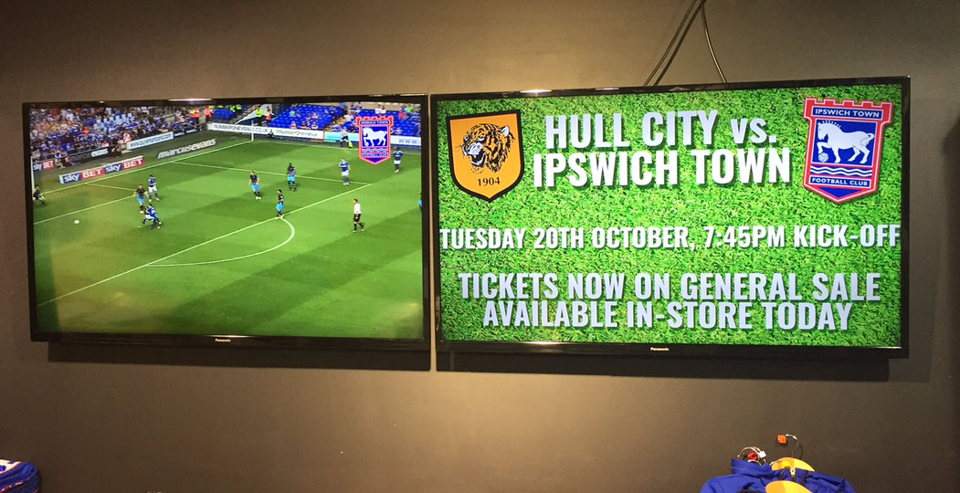 Ipswich Town Club store internal