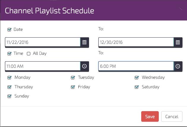 digitalsignage.net channel-schedule