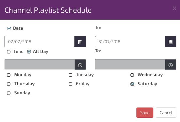 digital signage Channel Scheduling