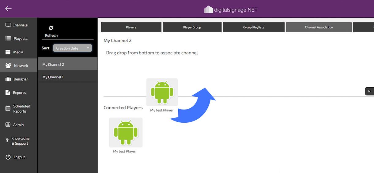 digitalsignage.NET Change Channel