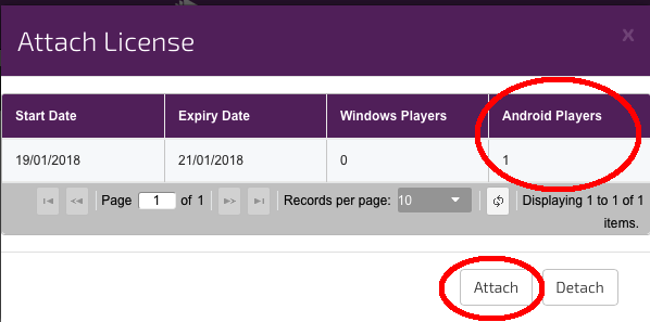 digitalsignage.net player licence