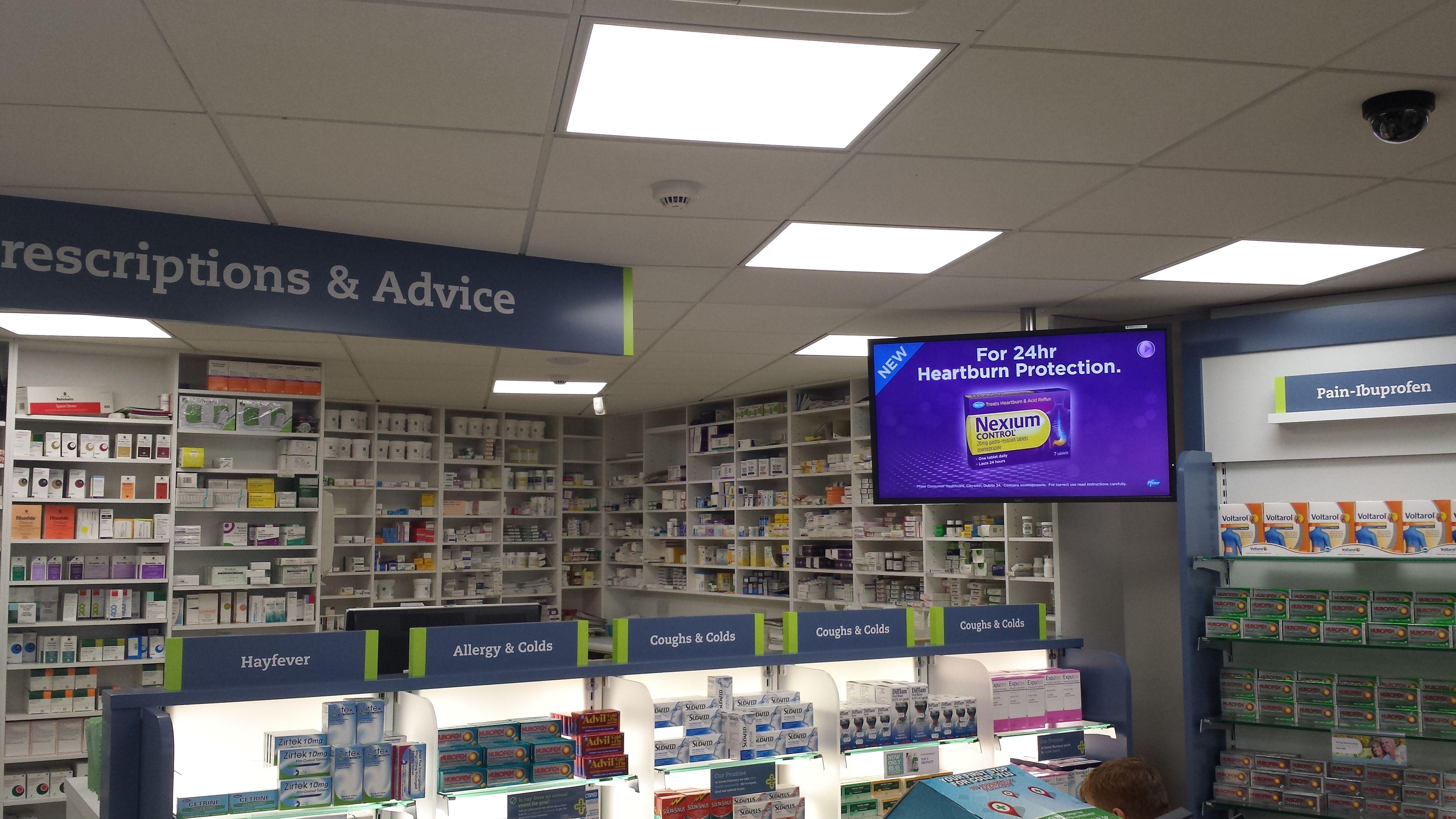 Pharmacy digital signage
