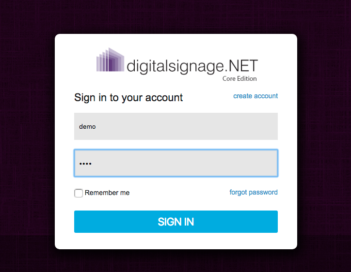 digitalsignage.net Core