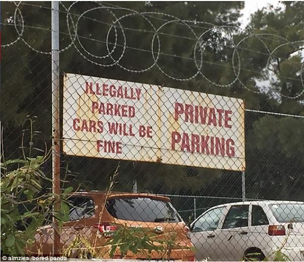 Car park sign spelling error